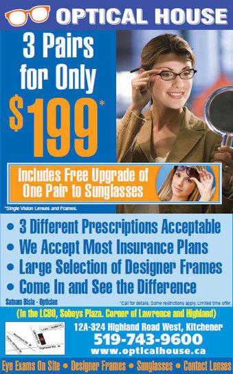 Eyeglasses Kitchener - opticalhouse.ca | cheap glasses Kitchener | Scoop.it