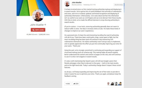 Google Authorship Cancellation: How It Will Affect You   General Information & Digital Marketing   Scoop.it