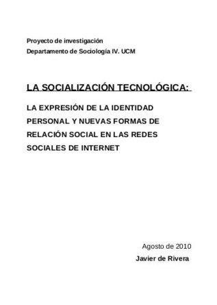 La Socialización Tecnológica: Investigación sobre Redes Sociales   Sociología y Redes sociales   Network Learning   Scoop.it