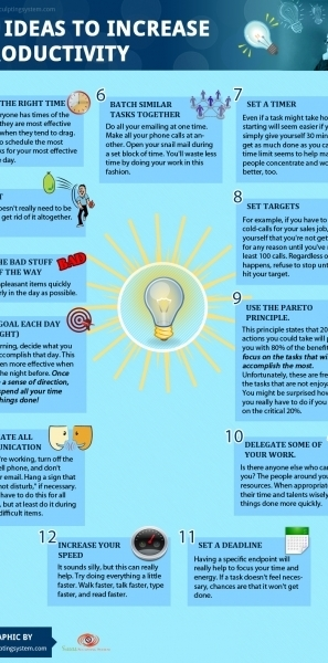 12 Ideas to Increase Productivity | Life @ Work | Scoop.it