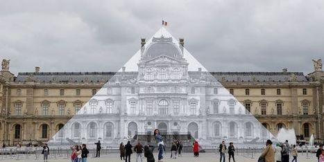 Pour son apparition au Louvre, JR fait disparaître la Pyramide | Street Art | Scoop.it
