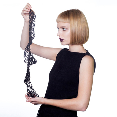 """""""4D-printed"""" shape-changing dress and jewellery by Nervous System 