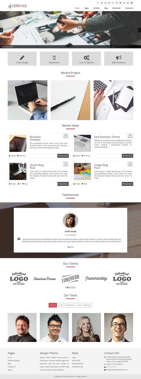 Launched Veriyas Theme - Free WordPress Theme | All About Website Design and Development | Scoop.it