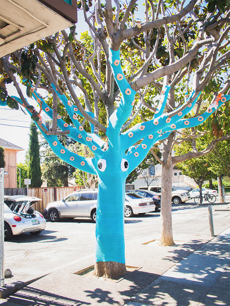 A Yarn Bombed Tree Squid | Art, Design & Technology | Scoop.it