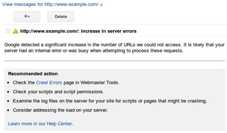 Des nouvelles alertes de crawl dans les Google Webmaster Tools - Actualité Abondance   Médias et réseaux sociaux   Scoop.it