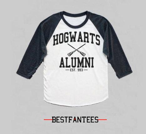 HARRY POTTER Hogwarts Quidditch Alumni Raglan Long Sleeve Shirt Unisex | New Collection | Scoop.it
