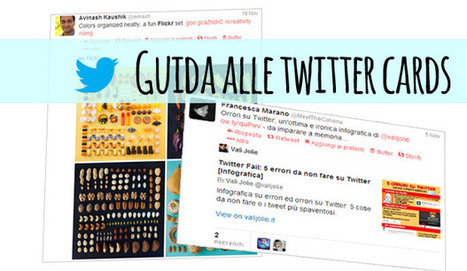 Guida Twitter Cards: aggiungerle al blog per coinvolgere i follower | Web Content Enjoyneering | Scoop.it