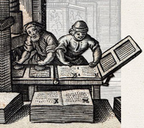 """Bookmark for """"The Atlas of Early Printing"""" 