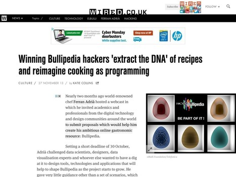 Awards / Wired / Winning Bullipedia hackers 'extract the DNA' of recipes and ...   HackingBullipedia-Converage   Scoop.it