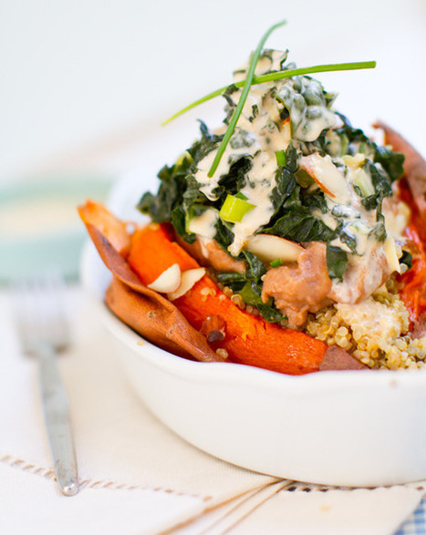 Sweet Potatoes. Baked. Stuffed. Over-Stuffed. | Healthy Whole Foods | Scoop.it