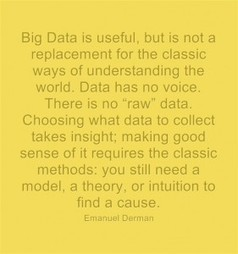 "Big Data is ""not a replacement for the classic ways of understanding the world"" 
