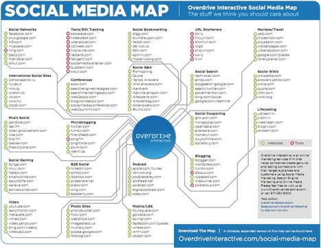 La carte des médias sociaux 2011… la curation oubliée ?! | Time to Learn | Scoop.it