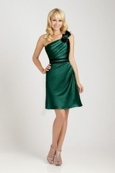 Asymmetrical neckline satin Evening Dress EWD0119 - Adollia makes the dresses fit you! | dresses | Scoop.it
