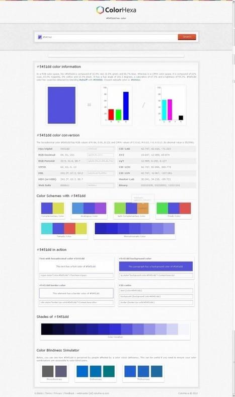 ColorHexa, l'encyclopédie pour bien choisir vos couleurs | Créations 2D et 3D | Scoop.it