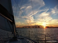 Sunset on aSailboat | I love boating | Scoop.it