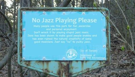 NO JAZZ PLAYING... | DESARTSONNANTS - CRÉATION SONORE ET ENVIRONNEMENT - ENVIRONMENTAL SOUND ART - PAYSAGES ET ECOLOGIE SONORE | Scoop.it