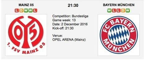 Mainz 05 vs. Bayern Munchen: Bundesliga Preview 2016 | Free betting tips on football,tennis,hockey & more | Scoop.it