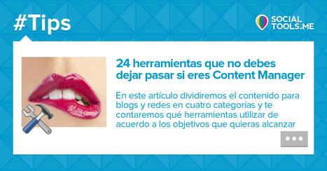 24 herramientas que no debes dejar pasar si eres Content Manager | Farmacia Social Media | Scoop.it