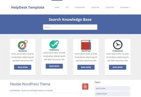 HelpDeskTheme - A Responsive Helpdesk Blogger Template | Blogspot templates | Scoop.it