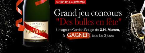 Jouez avec Plus de Bulles et gagnez un magnum Cordon Rouge de Mumm | le Vin : de la stratégie à la communication | Scoop.it