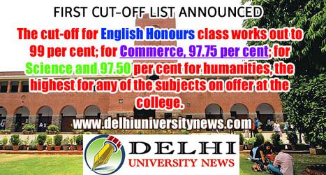 St. Stephens announces its 1st cut-off list | Website Design Company | SEO Services Delhi | Web Development | Scoop.it