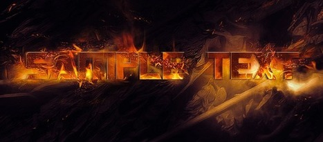 Photoshop Tutorial: Nice Fire Text Effect Creation | Crazy 4 Photoshop | Scoop.it
