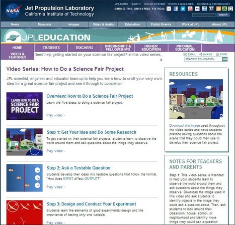Video Series: How to Do a Science Fair Project   Better teaching, more learning   Scoop.it