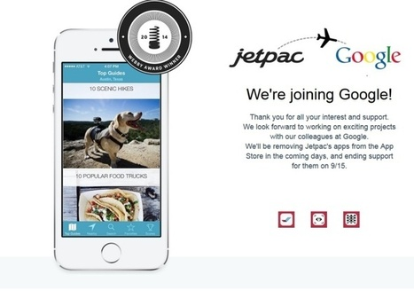 Jetpac, un guide touristique innovant dans l'escarcelle de Google | Mémoire | Scoop.it