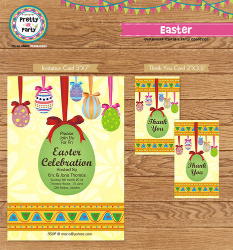 Easter Invitations and Thankyou cards/favor tags - Custom Printable Invitation   Personalised Return Gift   Scoop.it
