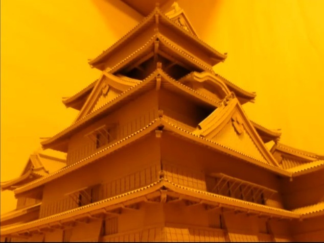 Japanese artist recreates Matsumoto Castle out ...