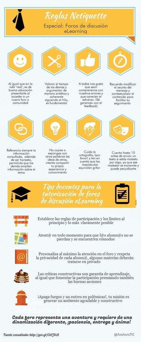 eLearning: normas de comportamiento en foros #infografia #infographic #education | Aprenentatge en xarxa | Scoop.it