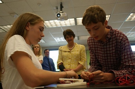 From microwave parts to telegraphs, Albemarle students show they can make it ⋅ Charlottesville Tomorrow | Invent To Learn: Making, Tinkering, and Engineering in the Classroom | Scoop.it
