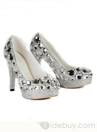 New Styles Platform Stiletto Heels Closed-toe Prom/Evening Shoes with Rhinestones | fashion | Scoop.it