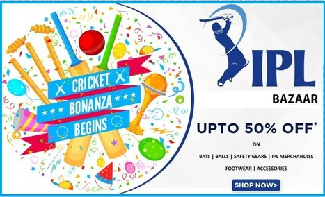 IPL Special Discount On Cricket Balls |Bats |Accessories |Safety Gear |Apparel Online | Online Shopping Goods | Scoop.it