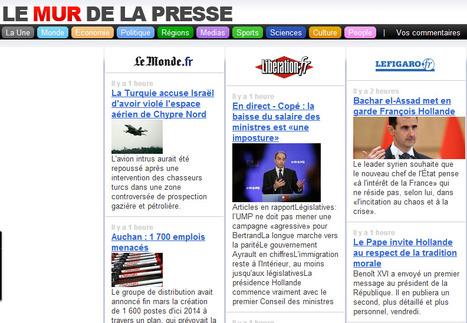 Le Mur de la Presse : Les titres des principaux journaux français et étrangers sur une même page | TICE & FLE | Scoop.it