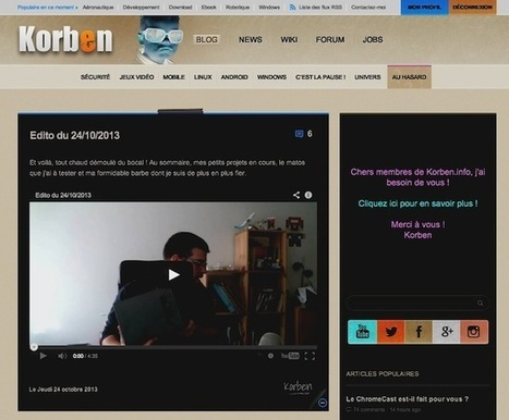Adoptez la Hacker Vision - Korben | Geek & Fun | Scoop.it
