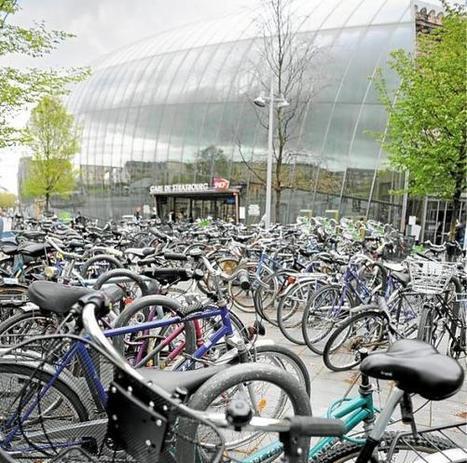 Strasbourg: À la gare, le vélo tient bon la route | RoBot cyclotourisme | Scoop.it