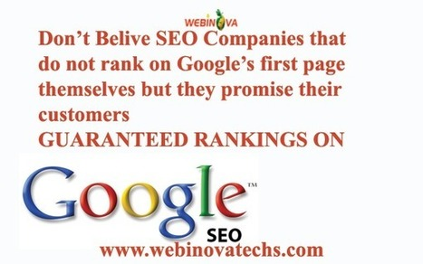 Don't Believe SEO Companies ! | Search Engine Optimization - Effective Methods | Scoop.it