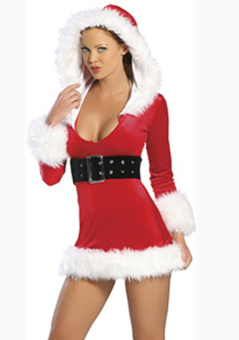 Sexy Miss Claus Hooded Dress –SexyLingeriesDeal.com | Christmas Costumes | Scoop.it