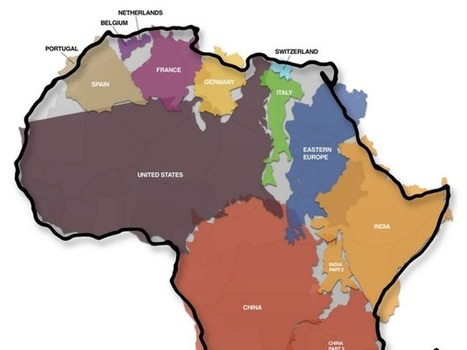 L'Afrique grandeur nature: la carte qui bouscule les idées reçues - Rue89   Cooperation development   Scoop.it