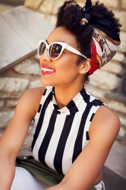 LEUK: 16 x een zomers kapsel met een sjaaltje om zelf uit te proberen! | Kapsels voor vrouwen | Scoop.it