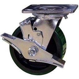 "5 Inch Swivel Caster with Brake - 5"" x 2"" Polyurethane Tread on Metal Wheel - 1000 Lb Capacity   Best Standby Generators   Scoop.it"