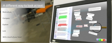 LiquidText | Multitouch Document Manipulation | Things to Explore | Scoop.it