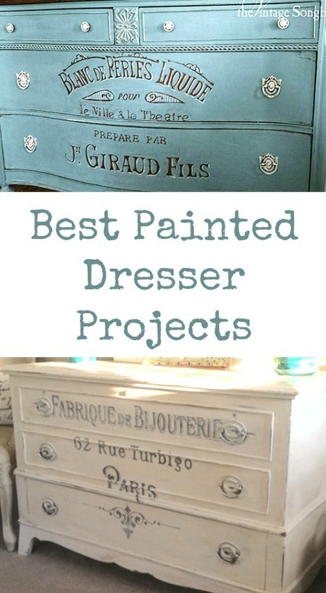 Best Painted Dresser Projects - The Graphics Fairy   Decoupage   Scoop.it