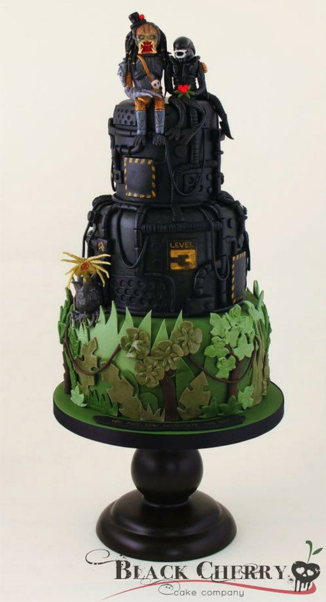 Alien vs. Predator Wedding Cake, a Match Made in Hell | Kitsch | Scoop.it