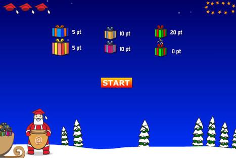 Jeu d'adresse : Le Père Noël et ses cadeaux (5-7 ans) | jeux éducatifs en ligne | Scoop.it