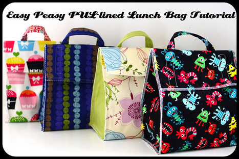 Jane of all Trades: Easy Peasy PUL-lined Lunch Bag | Einfach Nähen | Scoop.it