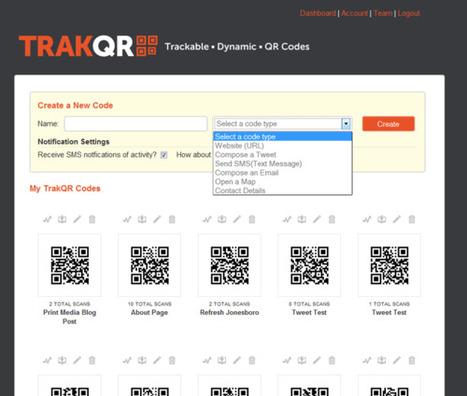 TrakQR: Crea códigos QR dinámicos con acceso a estadísticas ...   #Biblioteca, educación y nuevas tecnologías   Scoop.it