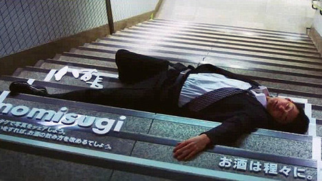 Sleeping drunks on streets of Japan turned into human billboards in excessive drinking campaign | Alcohol, advertising and sponsorship | Scoop.it