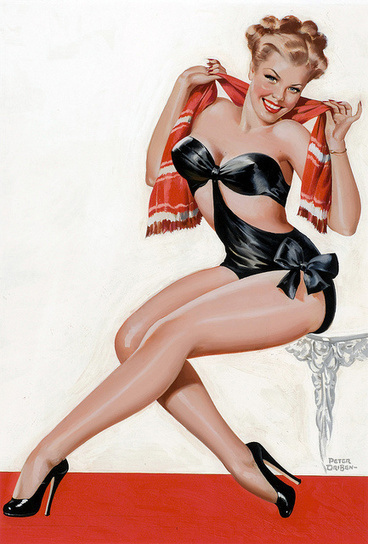 The Vintage Pin Up Girls of Peter Driben Gallery 2   bodyFlashWorld girls at the beach   Scoop.it